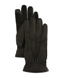 Ugg 3 Point Suede Touchscreen Gloves Black