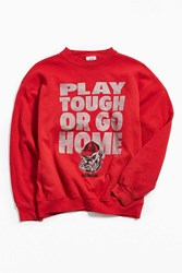 Urban Outfitters Vintage Georgia Bulldogs Crew Neck Sweatshirt Red