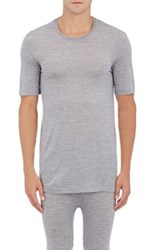 Hanro Men's Wool Silk T Shirt Grey