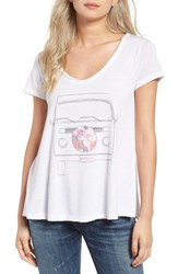 Rip Curl Women's Lone Traveller Graphic Tee White