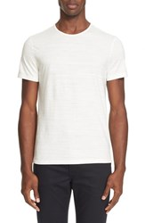 John Varvatos Men's Collection Slub Pima Cotton T Shirt Egg Shell