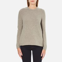 Barbour Women's Stratus X Back Crew Neck Jumper Stone Marl