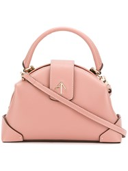 Manu Atelier Small Top Handle Tote Bag Pink And Purple