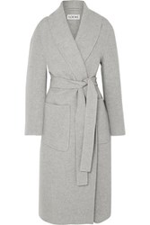 Loewe Belted Cashmere Coat Gray