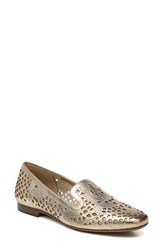 Naturalizer Women's Eve Loafer Gold Leather