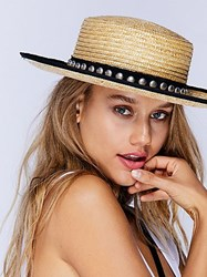 Free People Fame Studded Straw Boater By