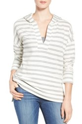 Caslon R Hooded Pullover Regular And Petite White