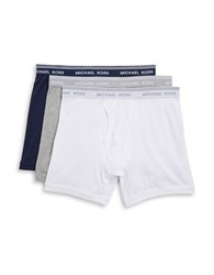 Michael Kors Three Pack Cotton Boxer Briefs New Navy