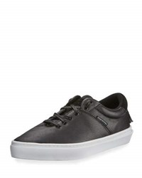Clear Weather The Ninety Mid Top Leather Sneaker Black