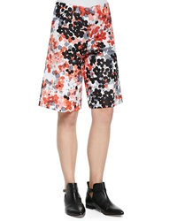 Red Valentino Abstract Flower Print Walking Shorts