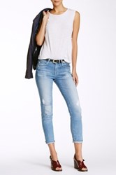Big Star Alex Patched And Distressed Skinny Jean Red