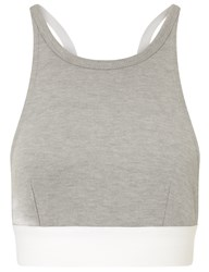 Alexander Wang Grey Stretch Pique Sports Bra