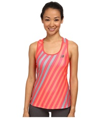 New Balance Challenger Printed Tank Bright Cherry Print Women's Sleeveless Red