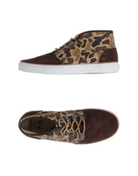 Trainerspotter High Top Sneakers Brown