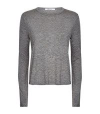 T By Alexander Wang Classic Cropped Pocket Long Sleeve T Shirt Female