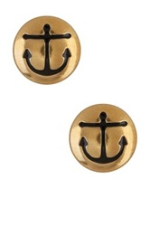 Alex And Ani Sacred Studs Anchor Earrings Metallic