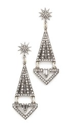 Lulu Frost Electra Statement Earrings Antique Silver