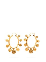 Karry Gallery 5 Ball Gold Plated Hoop Earrings Gold