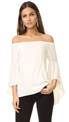 Wayf Sundown Off Shoulder Bell Sleeve Top Ivory