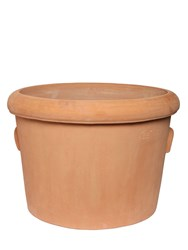 Fornace Masini Terracotta Vase With Handles Orange