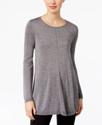 Alfani Petite Metallic Sweater Only At Macy's Silver