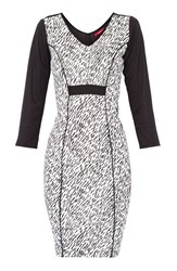 Maiocci Collection Animal Print Dress White