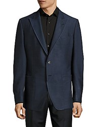 Tom Ford Silk Peak Lapel Sport Coat Navy