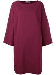 Barena Longsleeved Shift Dress Pink Purple