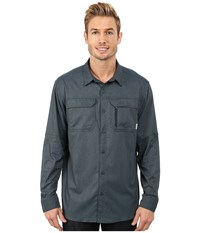 Columbia Royce Peak Ii L S Shirt Night Shadow Men's Long Sleeve Button Up Navy