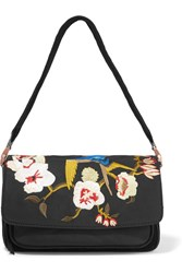 Elizabeth And James Willa Suede Embroidered Shell Shoulder Bag Black