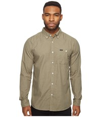 Brixton Central Long Sleeve Woven Olive Men's Long Sleeve Button Up