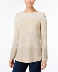 Styleandco. Style Co. Colorblocked Marled Sweater Only At Macy's Warm Ivory Combo