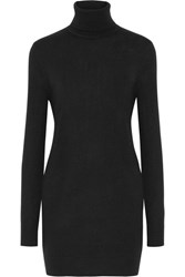 Equipment Oscar Cashmere Turtleneck Mini Dress Black