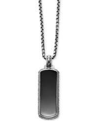 Scott Kay Men's Onyx 36 X 14Mm Dog Tag Necklace In Sterling Silver Black