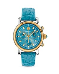 Versace Day Glam Chronograph Watch 38Mm Turquoise