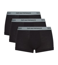 Armani Stretch Cotton Trunks Pack Of 3 White