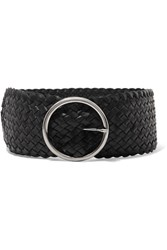 Andersons Anderson's Woven Leather Waist Belt Black
