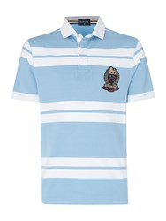 Howick Lincoln Stripe Short Sleeve Rugby Light Blue