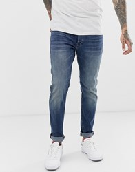 G Star 3301 Slim Fit Jeans In Medium Aged Blue