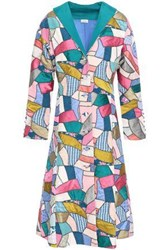 Talitha Patchwork Printed Silk Coat Multicolor