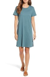Bobeau Knit T Shirt Cotton Dress Sea Blue