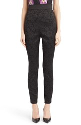 Women's Dolce And Gabbana Floral Jacquard Stretch Leggings