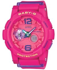 Baby G Women's Analog Digital Pink Resin Strap Watch 49 X 44 X 15Mm Bga180 4B3
