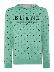 Blend Of America Pattern Crew Neck Pull Over Jumper Green