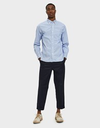 Beams Plus 9 10 Trouser 80 3 Twill In Navy