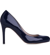 Lk Bennett Stila Patent Court Shoes Blu Navy