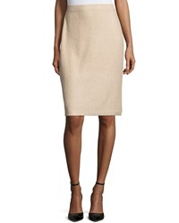St. John High Waist Pencil Skirt Camel Melange