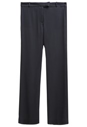Bzr Amelia Trousers Dark Navy Dark Blue