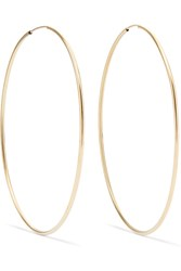 Loren Stewart Infinity Gold Hoop Earrings One Size