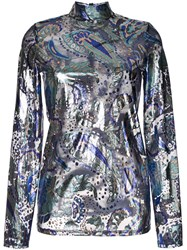 Alice Mccall Florette Metallic Top Blue